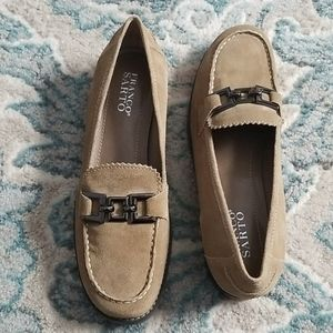 Franco Sarto Suede Beige Dress Loafers Size 9M